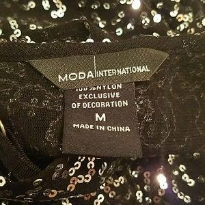 Moda International Tops - Sequin semi sheer tank top
